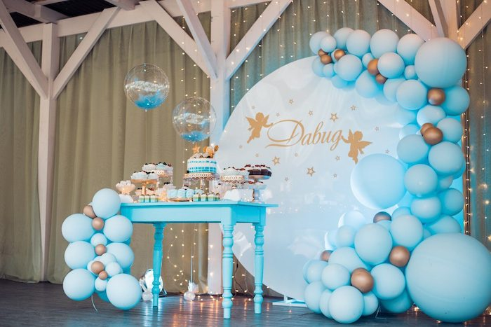 Dreamy Wish Upon a Star Christening Party on Kara's Party Ideas | KarasPartyIdeas.com (5)