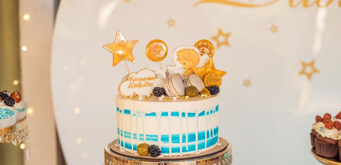 Dreamy Wish Upon a Star Christening Party on Kara's Party Ideas | KarasPartyIdeas.com (3)