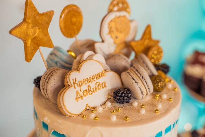 Wish Upon a Star-inspired Cake Top from a Dreamy Wish Upon a Star Christening Party on Kara's Party Ideas | KarasPartyIdeas.com (19)