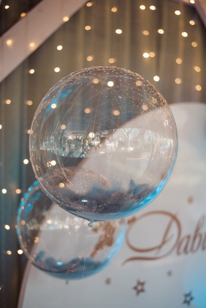 Floating Clear Balloons from a Dreamy Wish Upon a Star Christening Party on Kara's Party Ideas | KarasPartyIdeas.com (18)