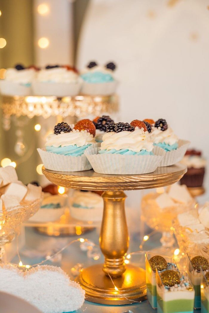 Fruit-topped Cupcakes from a Dreamy Wish Upon a Star Christening Party on Kara's Party Ideas | KarasPartyIdeas.com (14)