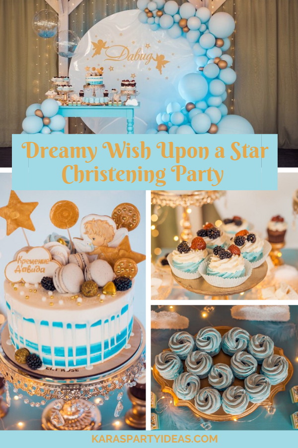Dreamy Wish Upon a Star Christening Party via Kara's Party Ideas - KarasPartyIdeas.com