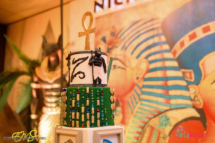 Egyptian Themed Cake from an Egyptian Themed Birthday Party on Kara's Party Ideas | KarasPartyIdeas.com (70)