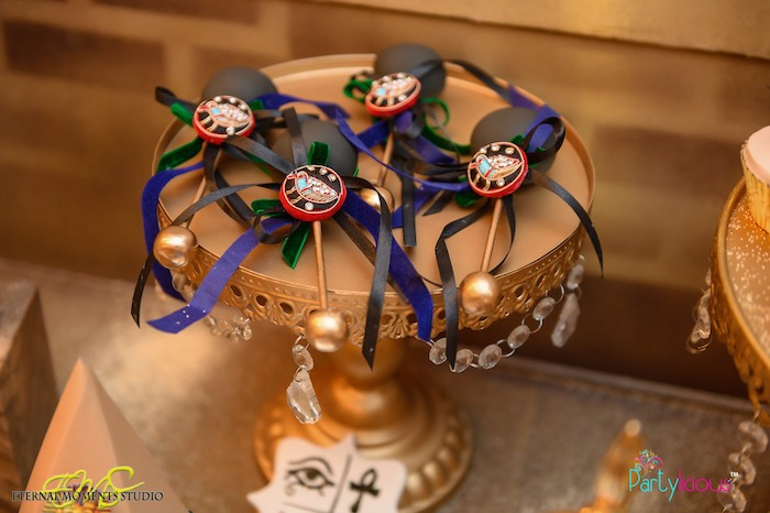 Royal Scepter Cake Pops from an Egyptian Themed Birthday Party on Kara's Party Ideas | KarasPartyIdeas.com (69)