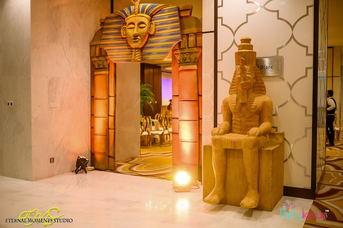 Pharaoh Arch + Egyptian Tomb Party Entrance from an Egyptian Themed Birthday Party on Kara's Party Ideas | KarasPartyIdeas.com (62)
