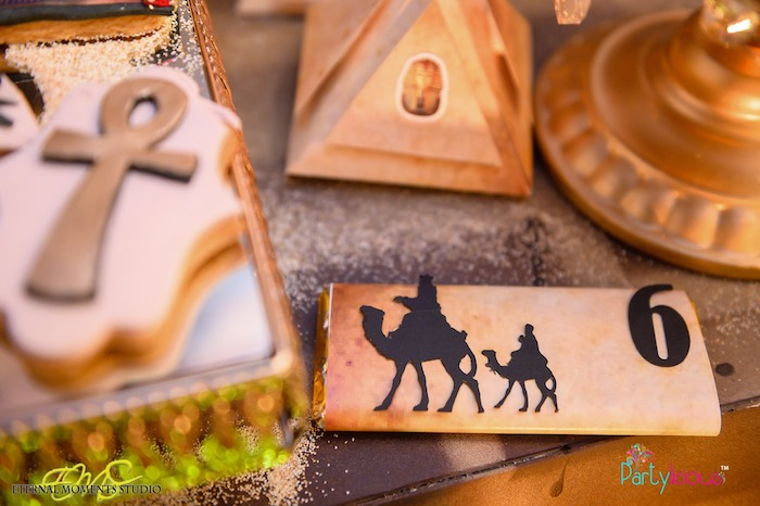Camel Silhouette-wrapped Candy Bar from an Egyptian Themed Birthday Party on Kara's Party Ideas | KarasPartyIdeas.com (55)