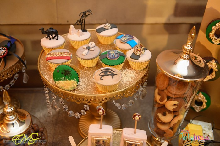Egyptian Themed Cupcakes from an Egyptian Themed Birthday Party on Kara's Party Ideas | KarasPartyIdeas.com (54)