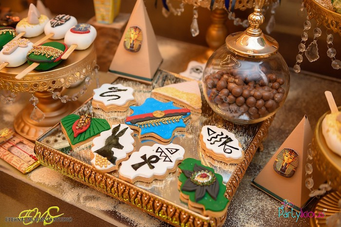Egyptian-inspired Cookies from an Egyptian Themed Birthday Party on Kara's Party Ideas | KarasPartyIdeas.com (52)