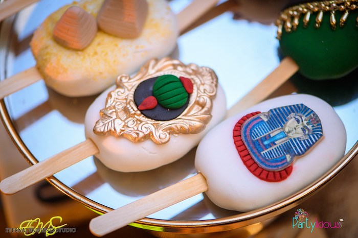 Egyptian-inspired Cakesicles from an Egyptian Themed Birthday Party on Kara's Party Ideas | KarasPartyIdeas.com (78)