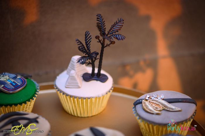 Egyptian Themed Cupcakes from an Egyptian Themed Birthday Party on Kara's Party Ideas | KarasPartyIdeas.com (43)