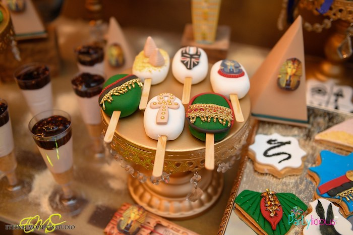 Egyptian-inspired Cakesicles from an Egyptian Themed Birthday Party on Kara's Party Ideas | KarasPartyIdeas.com (77)