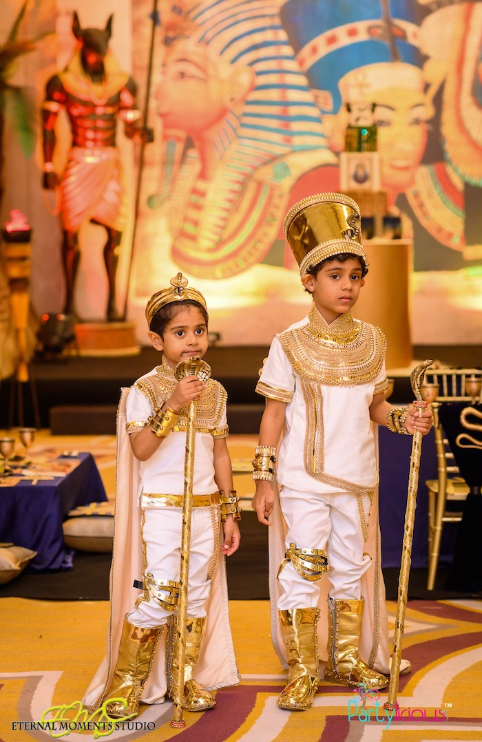 Little Pharaohs from an Egyptian Themed Birthday Party on Kara's Party Ideas | KarasPartyIdeas.com (26)
