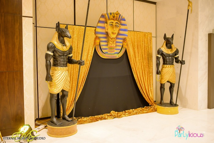 Egyptian Themed Photo Booth + Backdrop from an Egyptian Themed Birthday Party on Kara's Party Ideas | KarasPartyIdeas.com (75)
