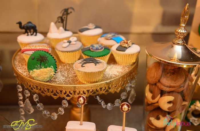 Egyptian Themed Cupcakes from an Egyptian Themed Birthday Party on Kara's Party Ideas | KarasPartyIdeas.com (19)