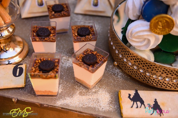 Dessert Cups from an Egyptian Themed Birthday Party on Kara's Party Ideas | KarasPartyIdeas.com (6)