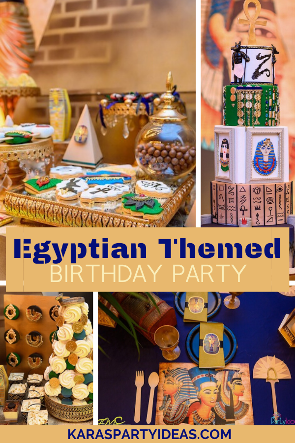 Egyptian Themed Birthday Party via Kara's Party Ideas - KarasPartyIdeas.com