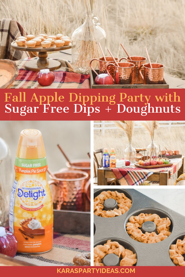 Fall Apple Dipping Party with Sugar Free Dips + Doughnuts via Kara's Party Ideas - KarasPartyIdeas.com