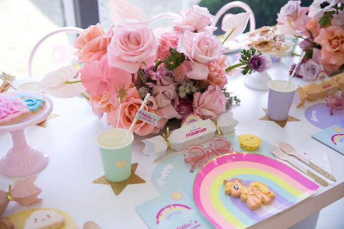 My Little Pony - Rainbow Table Setting from a Friendship is Magic Birthday Party on Kara's Party Ideas | KarasPartyIdeas.com (37)