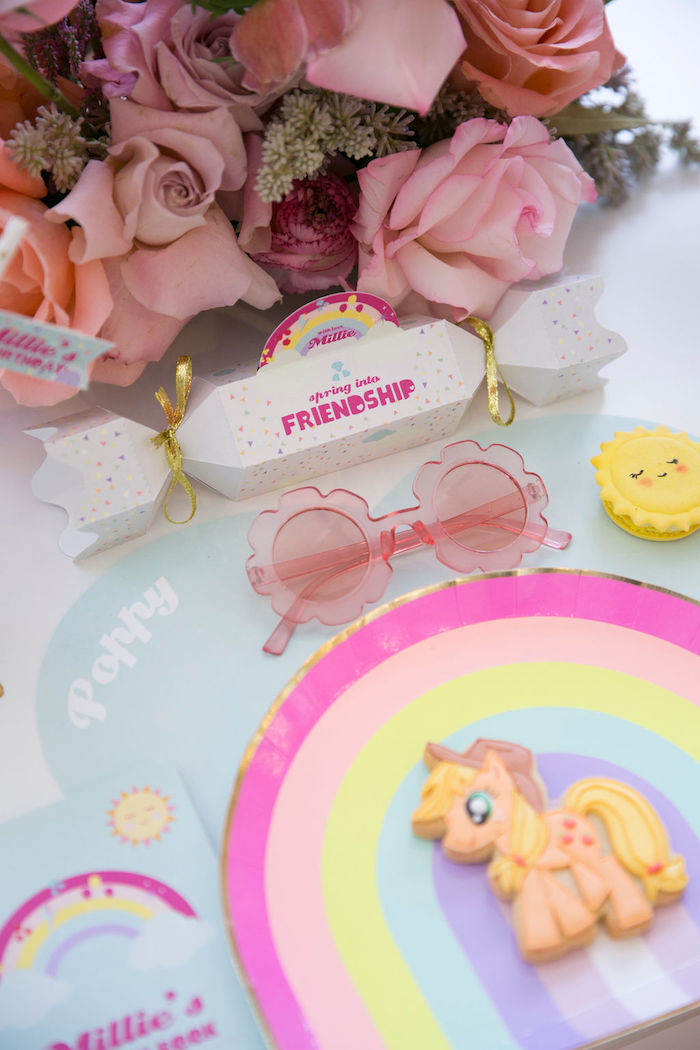 My Little Pony Table Setting from a Friendship is Magic Birthday Party on Kara's Party Ideas | KarasPartyIdeas.com (36)