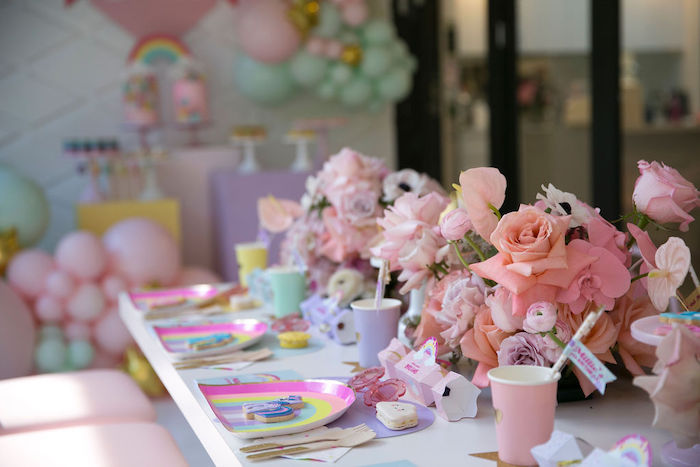 My Little Pony Themed Party Table from a Friendship is Magic Birthday Party on Kara's Party Ideas | KarasPartyIdeas.com (33)