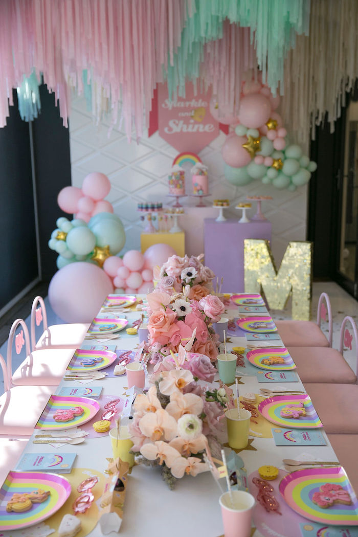 My Little Pony Themed Party Table from a Friendship is Magic Birthday Party on Kara's Party Ideas | KarasPartyIdeas.com (32)