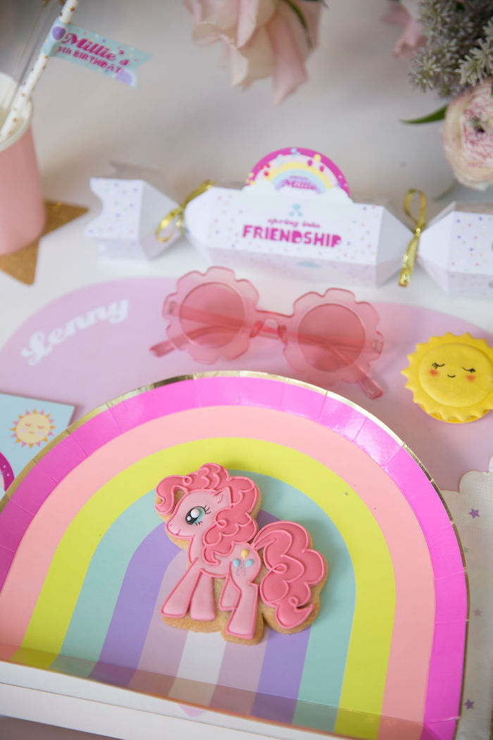 My Little Pony Table Setting + Sugar Cookie from a Friendship is Magic Birthday Party on Kara's Party Ideas | KarasPartyIdeas.com (47)