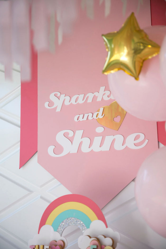 Sparkle and Shine Banner from a Friendship is Magic Birthday Party on Kara's Party Ideas | KarasPartyIdeas.com (25)