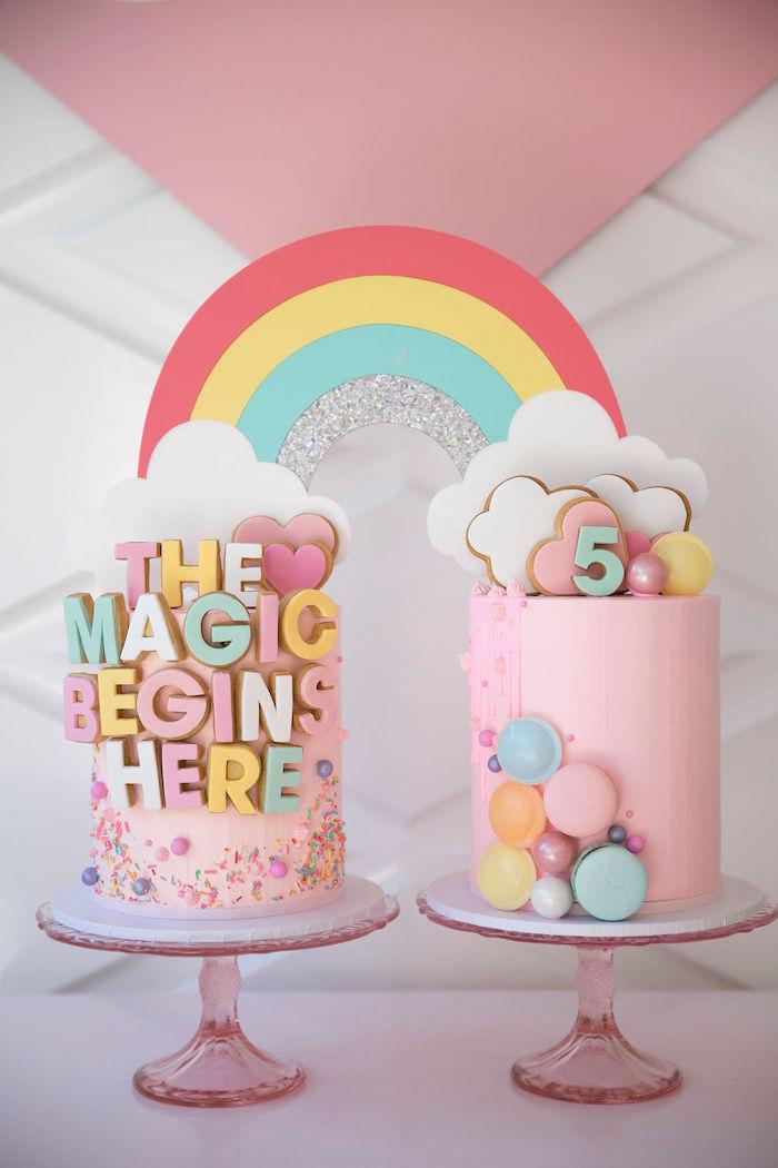 Rainbow Cloud Cakes from a Friendship is Magic Birthday Party on Kara's Party Ideas | KarasPartyIdeas.com (24)