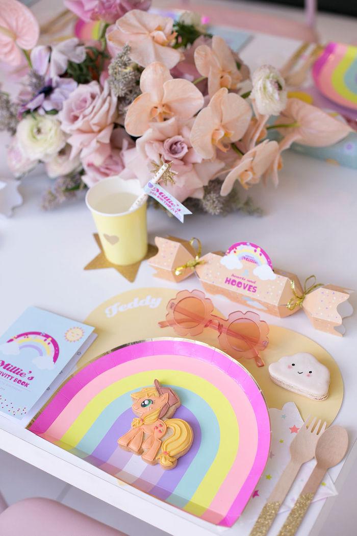 My Little Pony Table Setting from a Friendship is Magic Birthday Party on Kara's Party Ideas | KarasPartyIdeas.com (46)