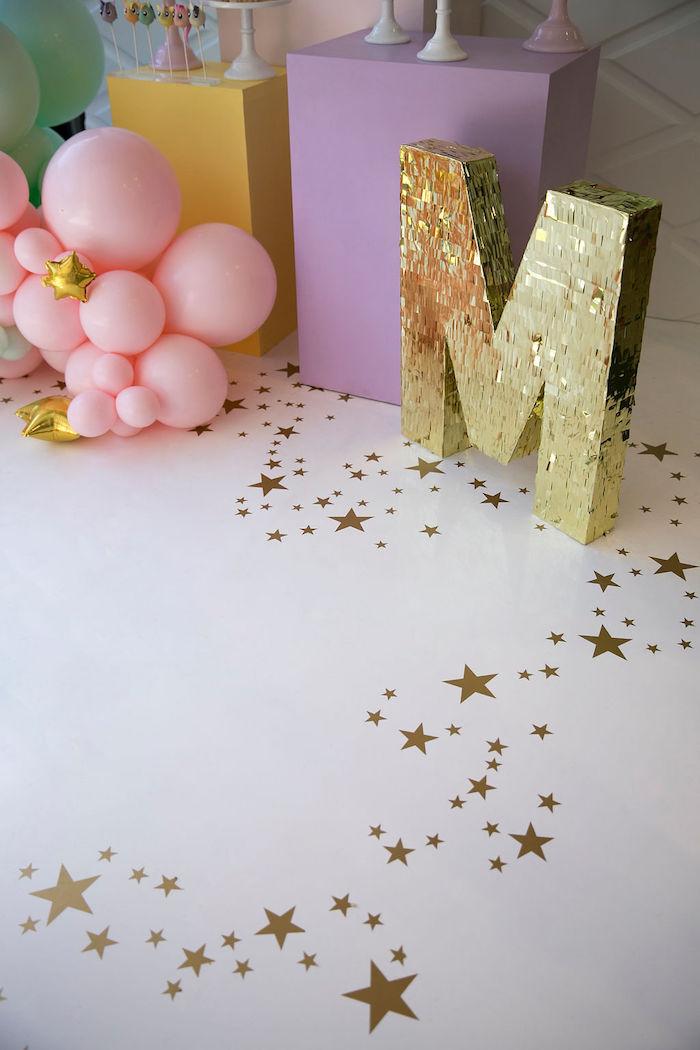 Star Floor from a Friendship is Magic Birthday Party on Kara's Party Ideas | KarasPartyIdeas.com (12)