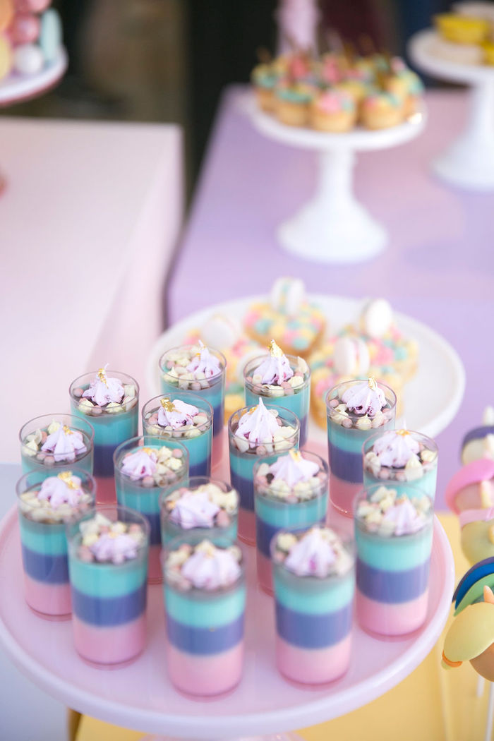 Pastel Layered Dessert Shooters from a Friendship is Magic Birthday Party on Kara's Party Ideas | KarasPartyIdeas.com (10)