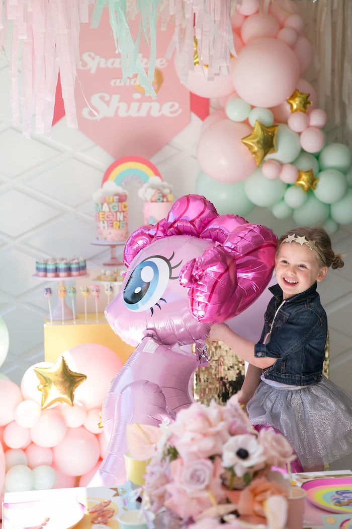 My Little Pony Mylar Balloon from a Friendship is Magic Birthday Party on Kara's Party Ideas | KarasPartyIdeas.com (6)