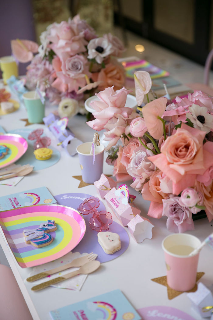 My Little Pony Themed Party Table from a Friendship is Magic Birthday Party on Kara's Party Ideas | KarasPartyIdeas.com (40)