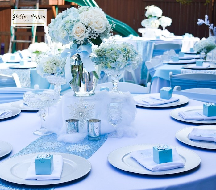 Frozen Themed Guest Table from a Frozen Birthday Party on Kara's Party Ideas | KarasPartyIdeas.com (14)