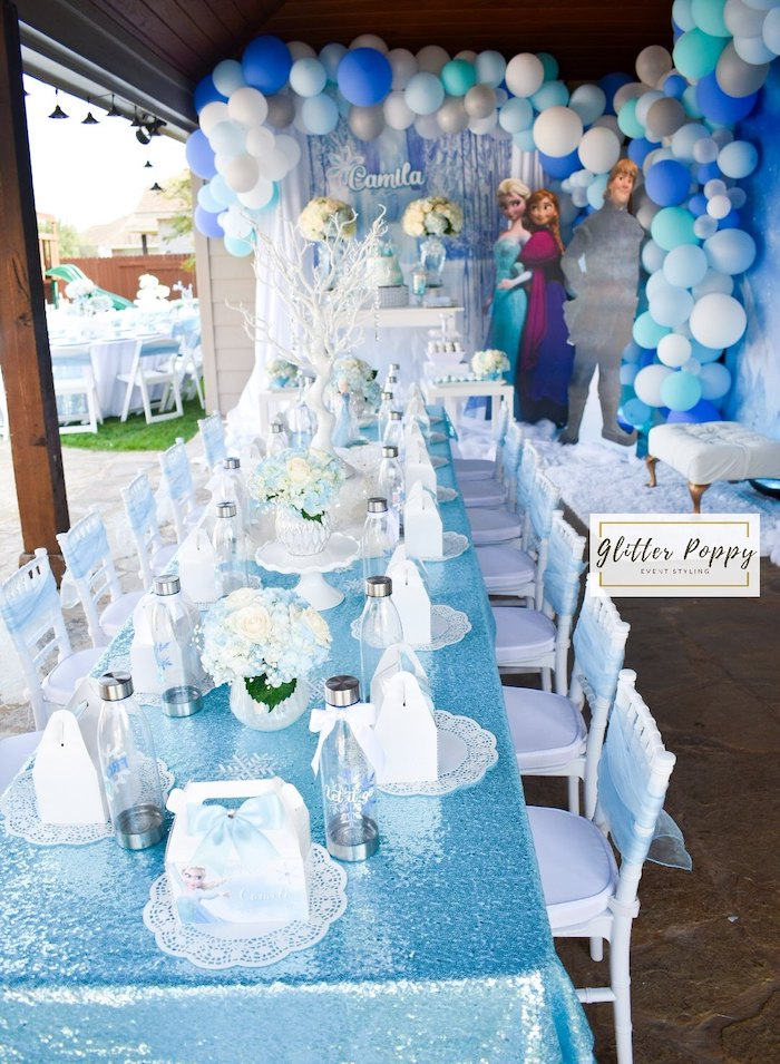 Frozen Themed Guest Table from a Frozen Birthday Party on Kara's Party Ideas | KarasPartyIdeas.com (12)