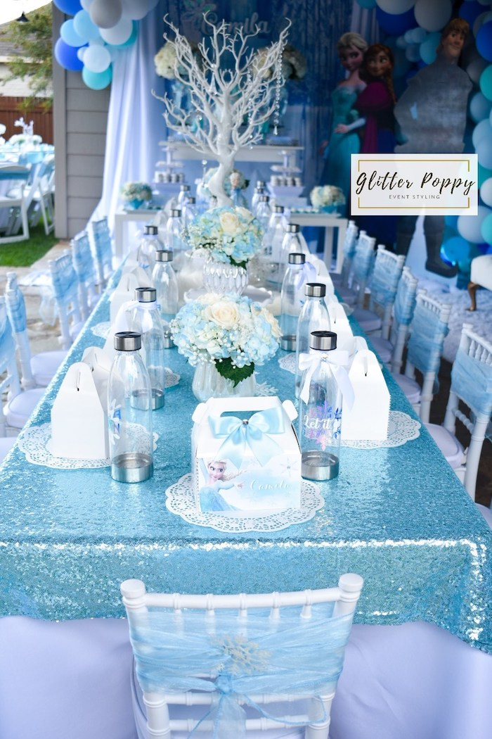 Frozen Themed Guest Table from a Frozen Birthday Party on Kara's Party Ideas | KarasPartyIdeas.com (27)