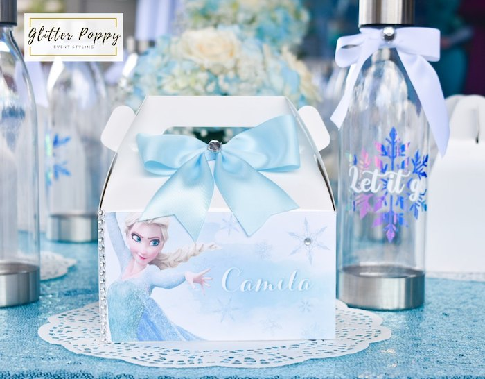 Frozen Gable Box Table Setting from a Frozen Birthday Party on Kara's Party Ideas | KarasPartyIdeas.com (9)