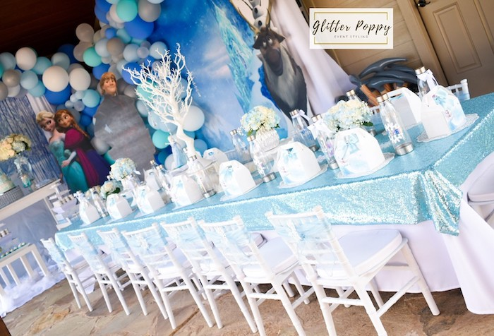 Frozen Themed Guest Table from a Frozen Birthday Party on Kara's Party Ideas | KarasPartyIdeas.com (8)