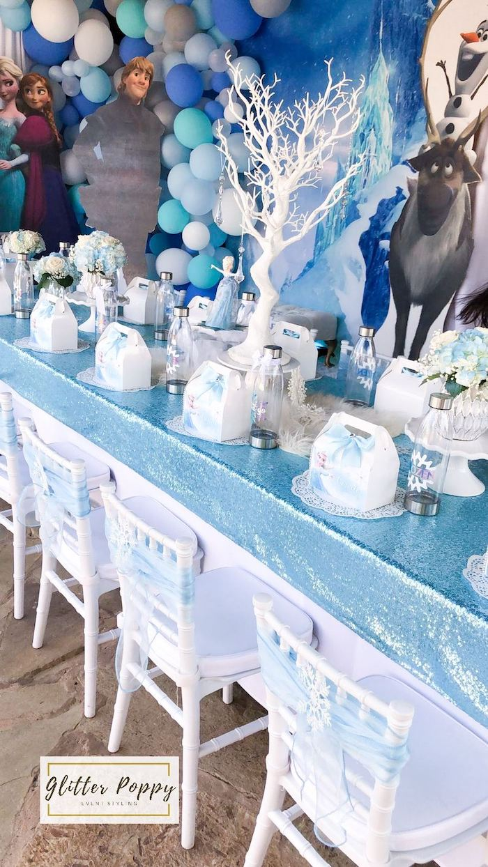Frozen Themed Guest Table from a Frozen Birthday Party on Kara's Party Ideas | KarasPartyIdeas.com (25)