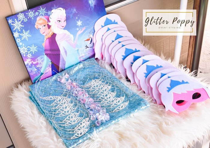 Elsa Crowns + Masks from a Frozen Birthday Party on Kara's Party Ideas | KarasPartyIdeas.com (22)