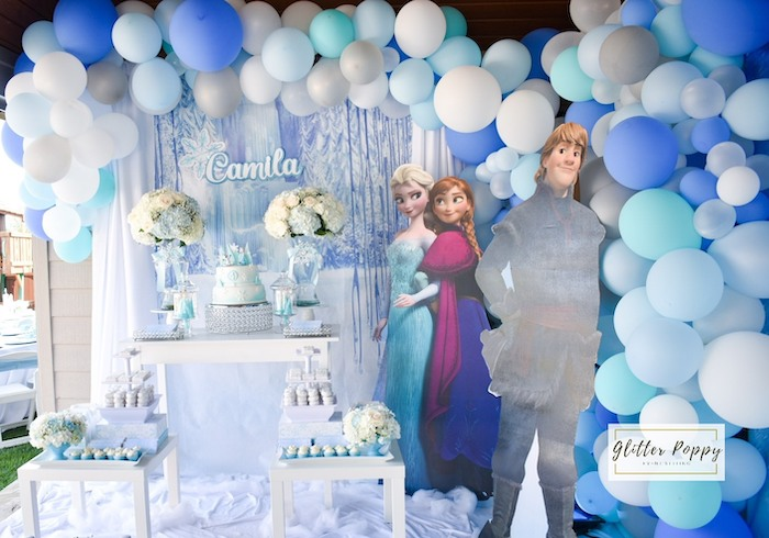 Frozen Themed Dessert Table from a Frozen Birthday Party on Kara's Party Ideas | KarasPartyIdeas.com (20)