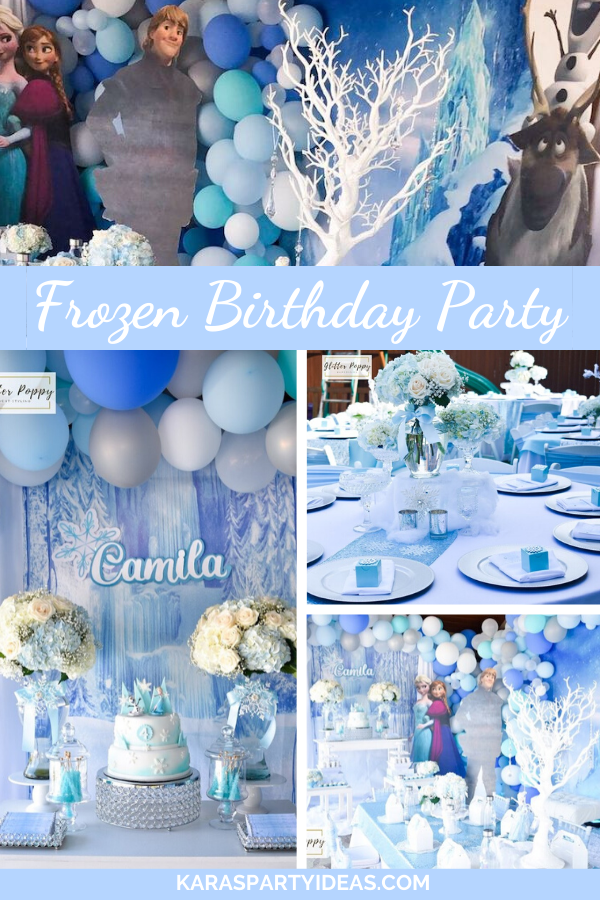 Frozen Birthday Party via Kara's Party Ideas - KarasPartyIdeas.com
