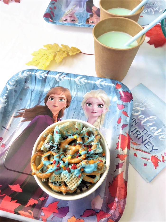 Frozen Themed Table Setting from a Frozen Themed Hot Chocolate & Dessert Bar on Kara's Party Ideas | KarasPartyIdeas.com (12)