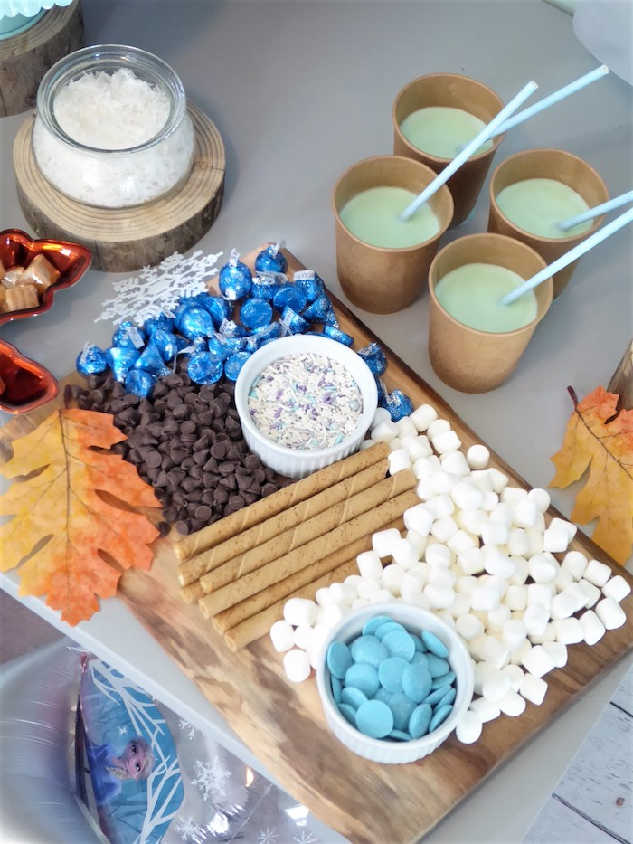 Hot Chocolate Bar from a Frozen Themed Hot Chocolate & Dessert Bar on Kara's Party Ideas | KarasPartyIdeas.com (10)