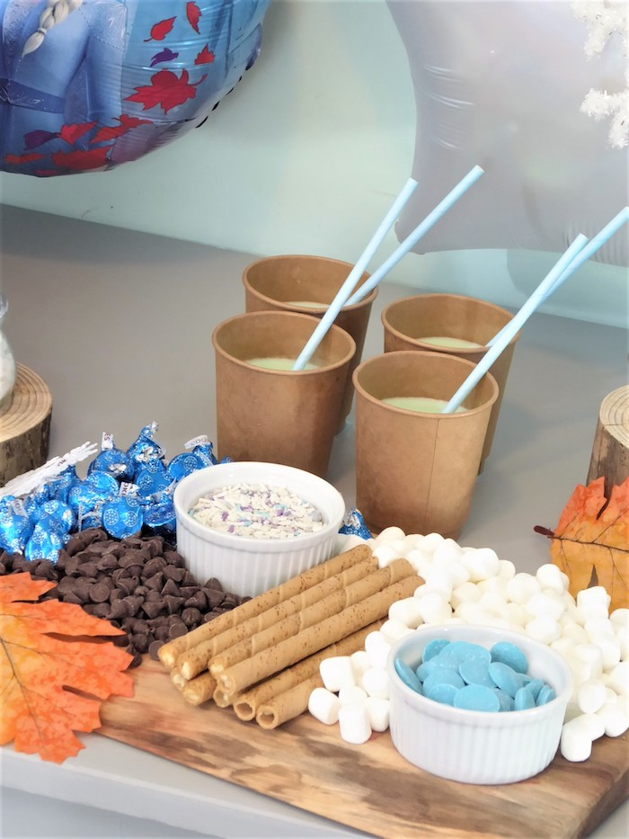 Hot Chocolate Bar from a Frozen Themed Hot Chocolate & Dessert Bar on Kara's Party Ideas | KarasPartyIdeas.com (9)