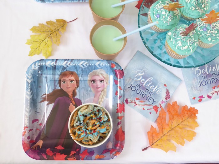 Frozen Table Setting from a Frozen Themed Hot Chocolate & Dessert Bar on Kara's Party Ideas | KarasPartyIdeas.com (8)