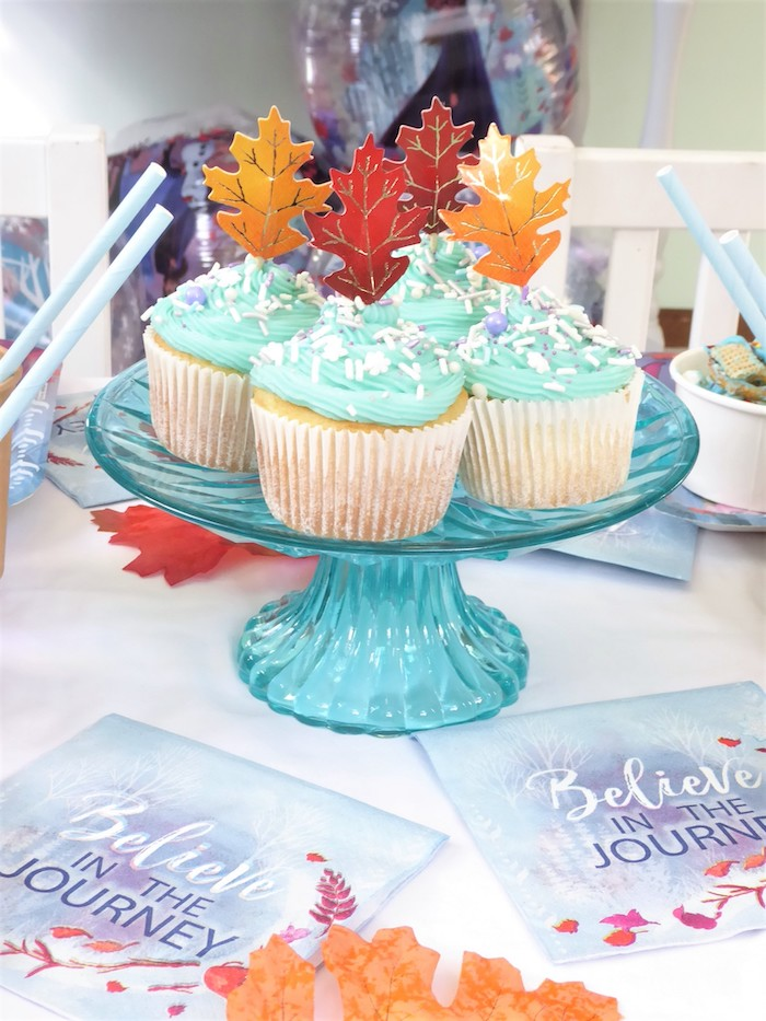 Frozen Themed Cupcakes from a Frozen Themed Hot Chocolate & Dessert Bar on Kara's Party Ideas | KarasPartyIdeas.com (7)