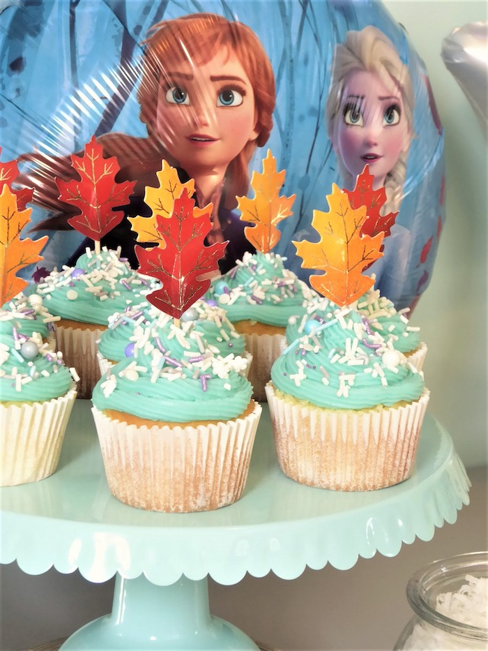 Frozen Themed Cupcakes from a Frozen Themed Hot Chocolate & Dessert Bar on Kara's Party Ideas | KarasPartyIdeas.com (19)