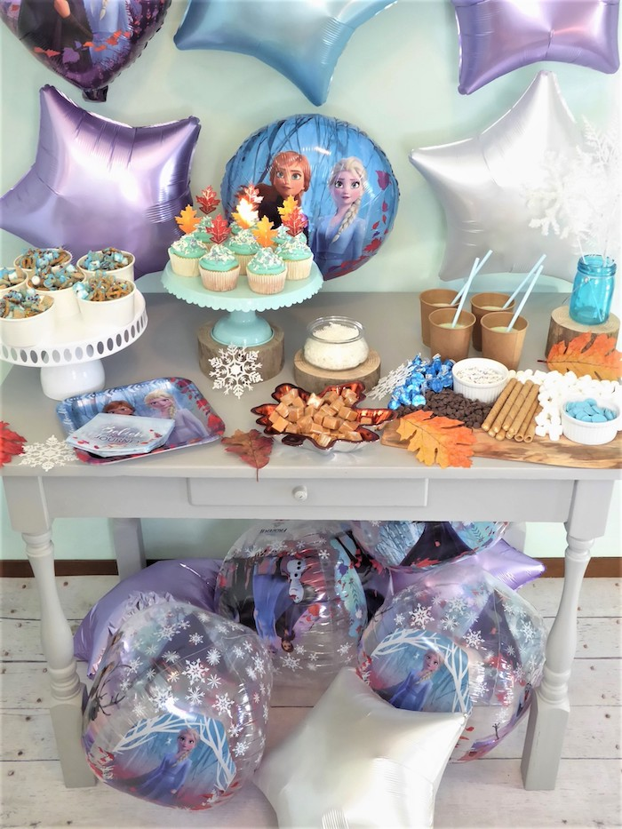 Frozen Themed Dessert Table from a Frozen Themed Hot Chocolate & Dessert Bar on Kara's Party Ideas | KarasPartyIdeas.com (16)