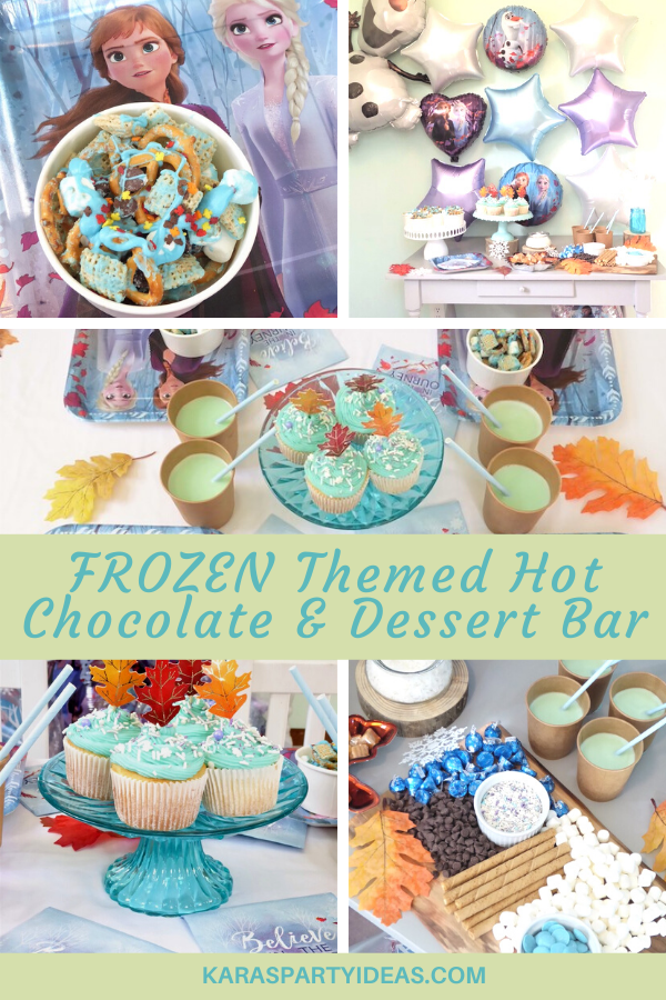 Frozen Themed Hot Chocolate & Dessert Bar via Kara's Party Ideas - KarasPartyIdeas.com